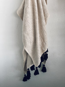 Hand Sewn Throw - Natural