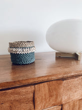 Load image into Gallery viewer, Cowrie Shell Basket Grey - L