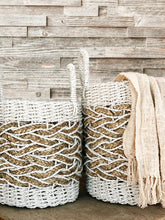 Load image into Gallery viewer, Alila ethically sourced woven basket white medium