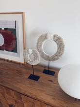 Load image into Gallery viewer, Cowrie Sunrise Shell Decor on Stand - M
