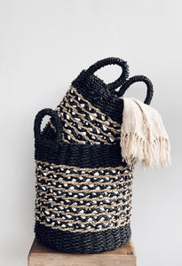 Alila Seagrass Basket Black - Set