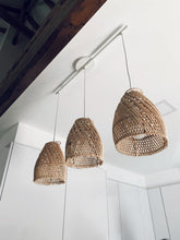 Load image into Gallery viewer, Ayana Rattan Lampshade Natural Cross - S