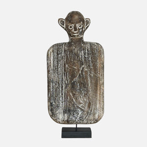 Aman Timor Wooden Statue on Stand