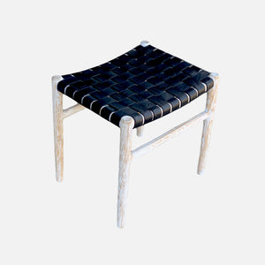 Ambon Leather Stool - L