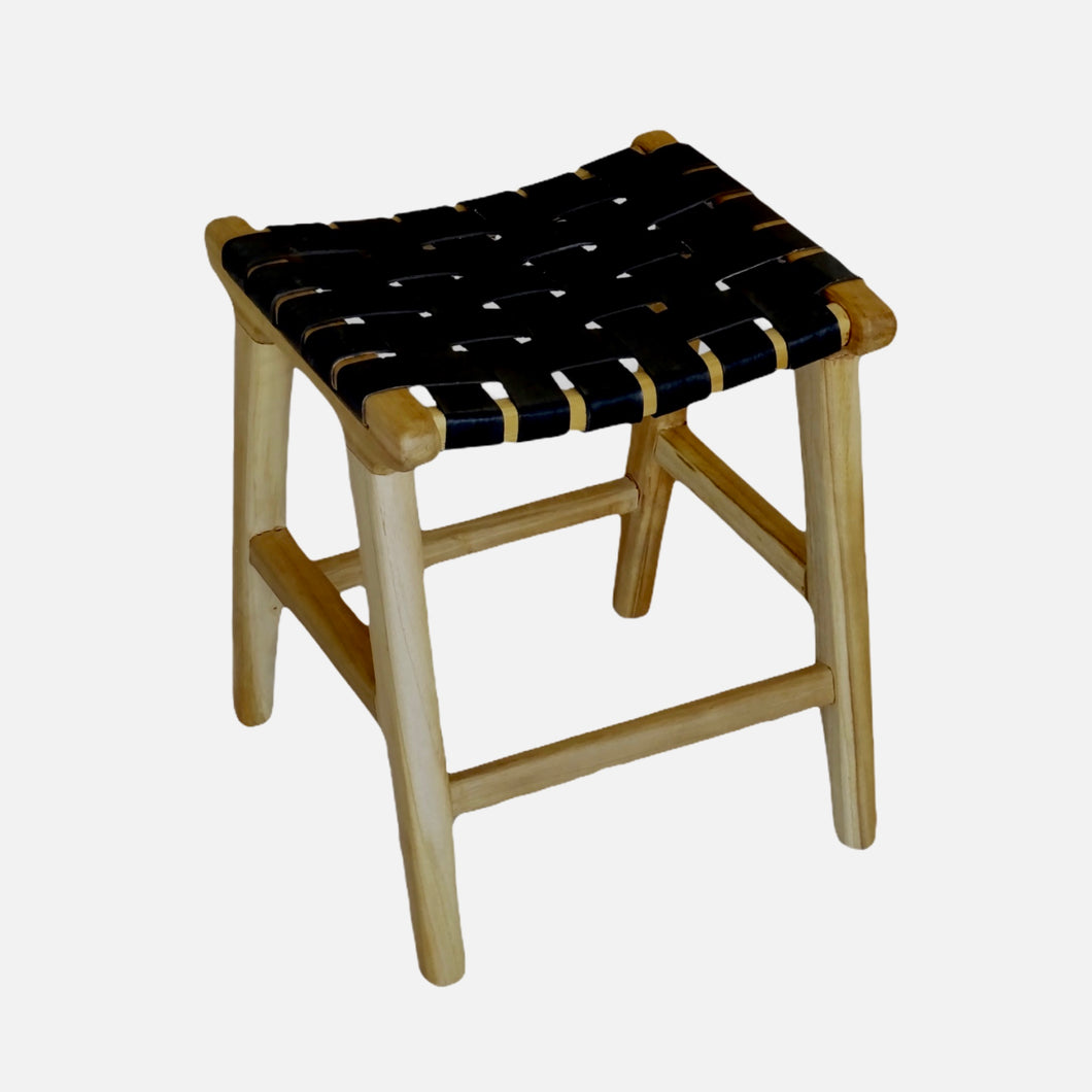 Ambon Leather Stool