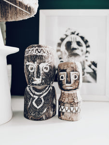 Labarik Timor-oan Wooden Statue - Set of 2