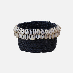Cowrie Shell Basket Black - S