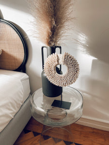 Cowrie Sunrise Shell Decor on Stand - S