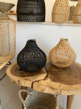 Load image into Gallery viewer, Maubara Rattan Lampshade - Black