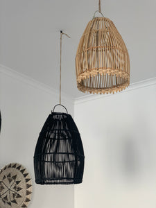 Ayana Rattan Lamp Shade Black - L