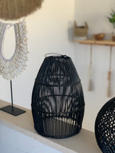 Load image into Gallery viewer, Ayana Rattan Lamp Shade Black - L