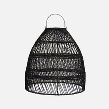 Load image into Gallery viewer, Lauhata Rattan Lampshade Black