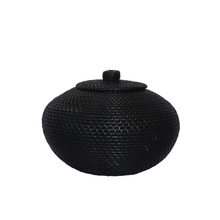 Load image into Gallery viewer, Lembar Vase Round Black - L