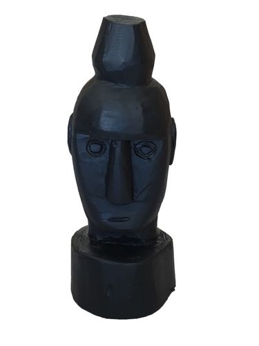 Maun Boot Timor Wooden Statue - Black