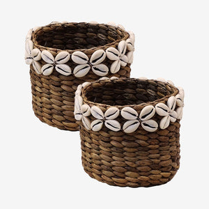 Cowrie Shell Basket - M - Set of 2