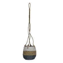 Load image into Gallery viewer, Seba Hanging Pot Basket - Tricolor Grey