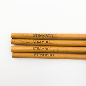 Bamboo Straws | Pack of 12 - Wood Colour
