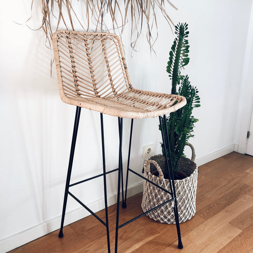 Sumba Bar Stool Chair - Natural