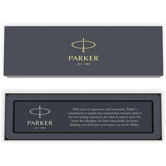 Parker Jotter Ballpoint Pen, Chrome Bond Street Black, Medium Point, Black Ink
