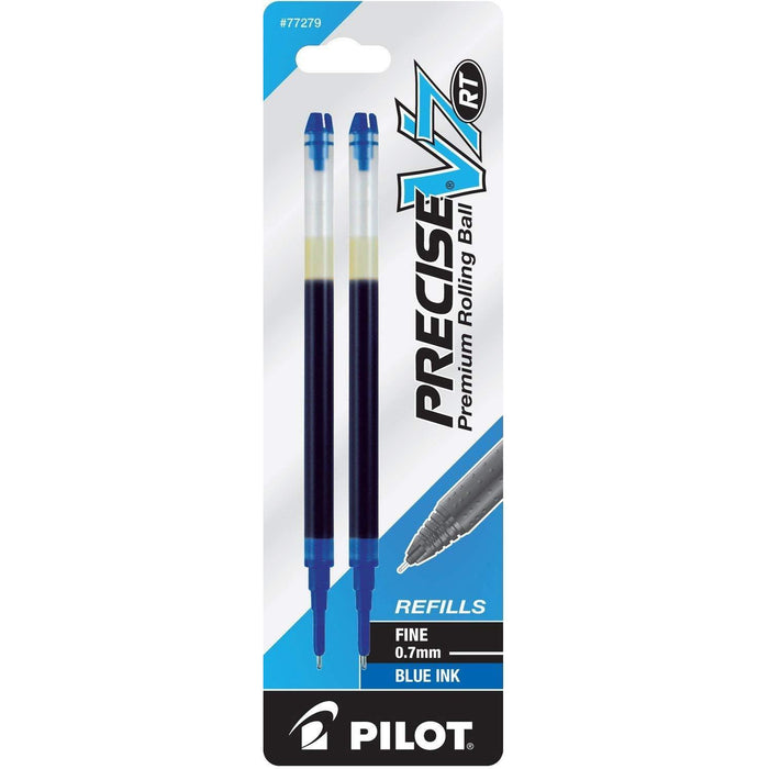 Pilot Precise V7 RT Premium Rolling Ball Ink Refills, 0.7mm, Fine Point, Blue Ink, 2 Count