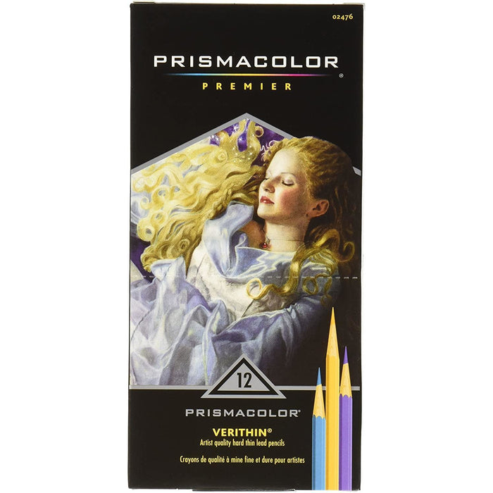 Prismacolor Verithin Colored Pencils, Assorted Colors, 12 Count
