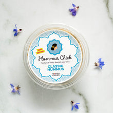 Load image into Gallery viewer, Hummus Chick classic hummus is both gluten-free and certified kosher.
