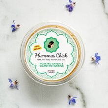 Load image into Gallery viewer, Hummus Chick's roasted garlic and cilantro hummus is the perfect addition to your fridge!