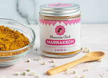 Load image into Gallery viewer, Made in the USA, Hummus Chick's Marrakech spice is a a blend of Coriander, Cumin, Turmeric, Cinnamon, Black Malabar Pepper, Ginger, Cardamom, cloves, cayenne.