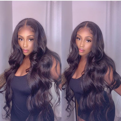 Body Wave Hair Wig HD Transparent Lace Front Wig T Part Wigs