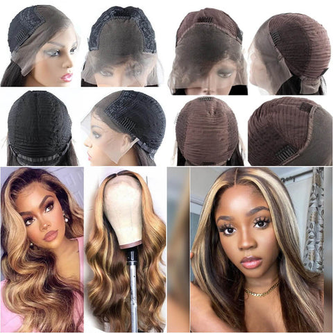 Highlight Ombre Brown Wigs 13x4 Lace front wig