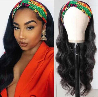 Uwigs Body Wave Hair Headband Wig Affordable Natural Hair Half Wigs