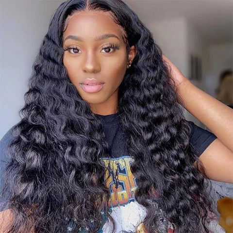 Loose Deep Wave Hair Wig HD Transparent Lace Front Wig T Part Wigs