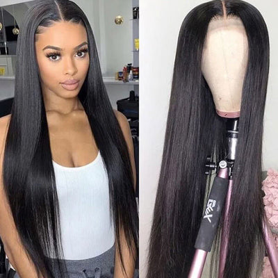 Best Bone Straight Hair Cambodian Hair Wig 13*4 Lace Front Human Hair Wigs 100% Virgin Hair Wig