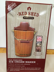 Red Shed Old Fashioned Ice Cream Maker