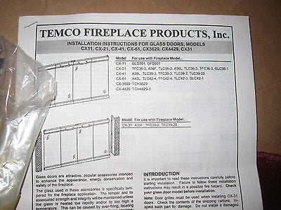 Temco Bi Fold Brushed Brass Fireplace Doors Clearview Glass Cx 61