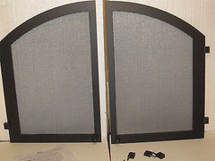 Majestic Cabinet  Black Textrure  Arch Double Screen Door VC42CDB