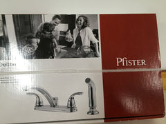 Price Pfister Polished Chrome Delton 2 Handled Kitchen Faucet With Sprayer Model F035-4THC