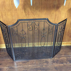 "Copper 3 Panel Fireplace Screen 52"" X 31 1/2"""