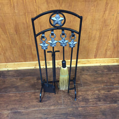 Uniflame Texas Star 5 Piece Fireplace Tool Set Model  # 4738