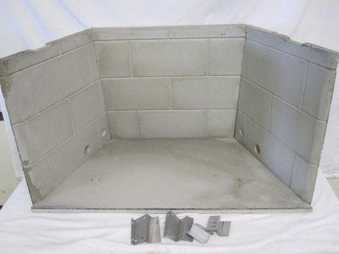 Heatilator Model CC36 Fireplace Complete Set Refractory Liner Panel