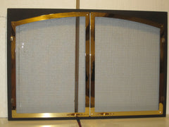 Majestic Vermont Casting  DV580 In Pewter Or Gold Arch Door Screen Black Frame DV580DKG