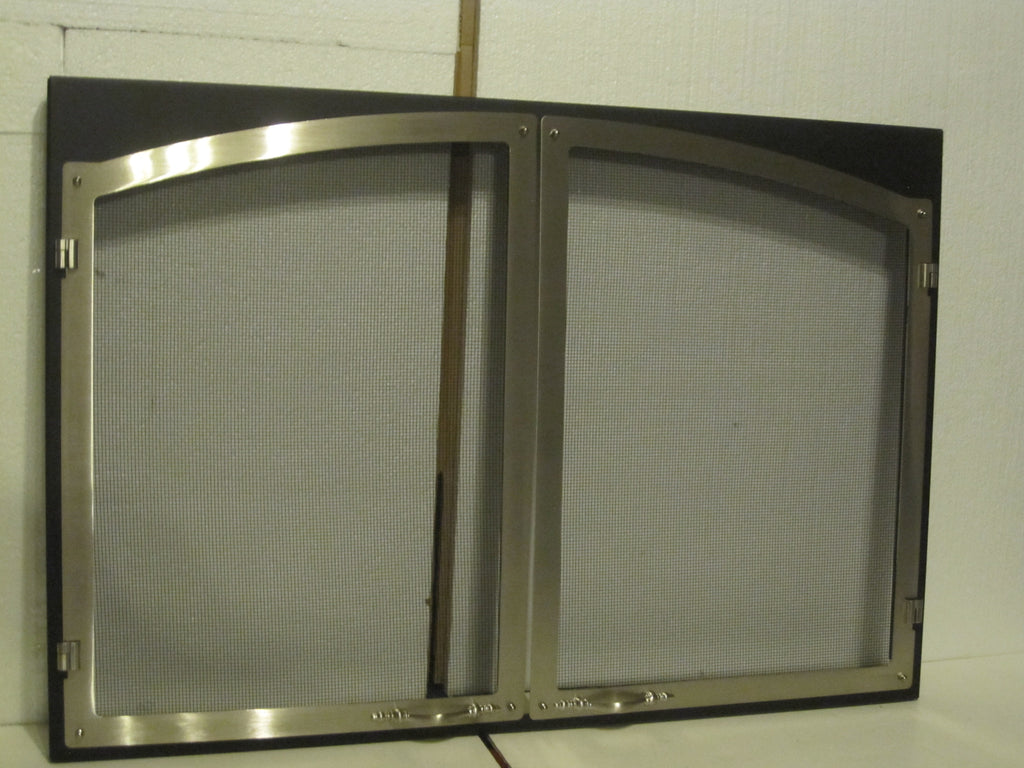 vermont casting majestic fireplace pewter arch double door screen