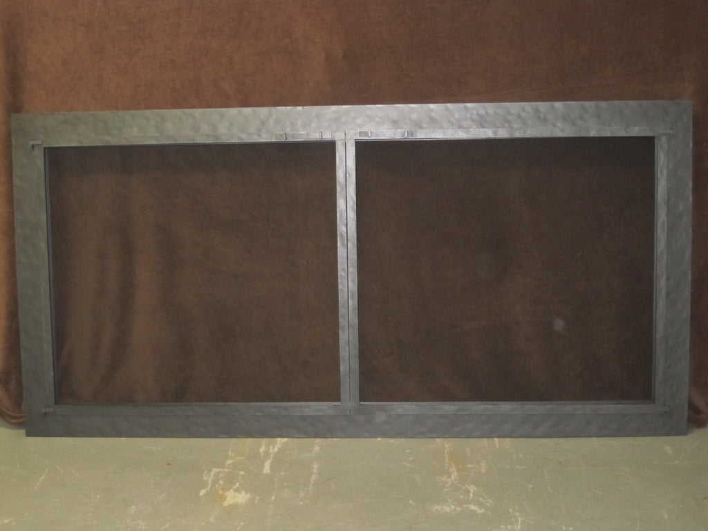 stoll ex large masonary pewter fireplace screen door 6 foot 5 x 38 rh glass stove parts farming more myshopify com Chrome Fireplace Screen Chrome Fireplace Screen