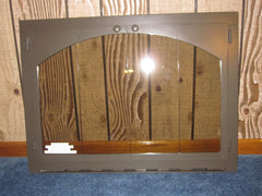 "Carolina Arch Fireplace Bi-Fold Bronze Tinted Glass Door  37"" W x 27"""