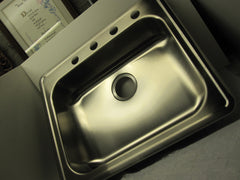 Elkay 22 Ga. Stainless Steel Single Basin Kitchen Sink Model # GE125214