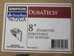 "Simpson Wood Stove Fireplace  8"" Adjustable DuraTech Tee Support Part # 9672GA"