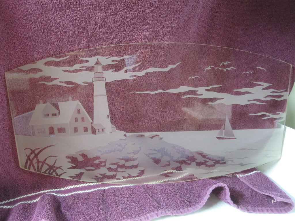 ... Vermont Casting Avalon Wood Stove Arched Ceramic Door Glass Etched  Lighthouse Glass Scenery 99400313 ... - Vermont Casting Avalon Wood Stove Arched Ceramic Door Glass Etched