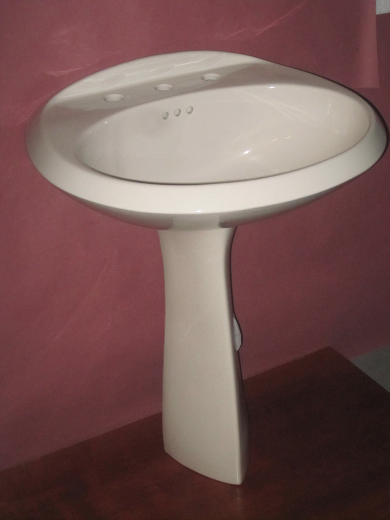 American Standard Ellisse Petite Pedestal Bathroom Sink Warm White ...