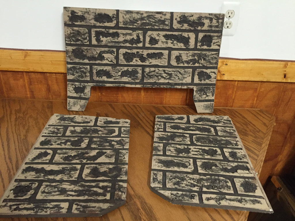 kingsman 3 piece refractory brick liner for direct vent