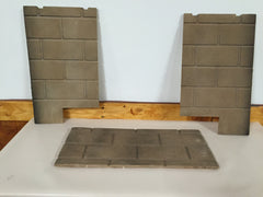 Majestic 33 Series Fireplace Refractory Liner Set Sandstone  Part # 33LDVTCR